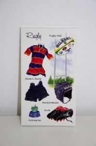 Sports Themed Note Pads. Fishing, Rugby, Cricket Fathers Day Gifts!